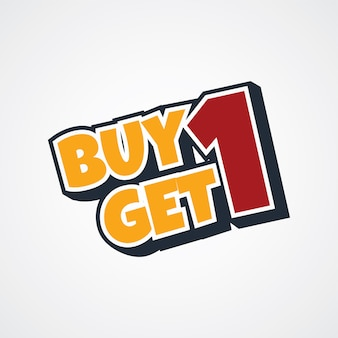 Buy one get one free theme vector art illustration