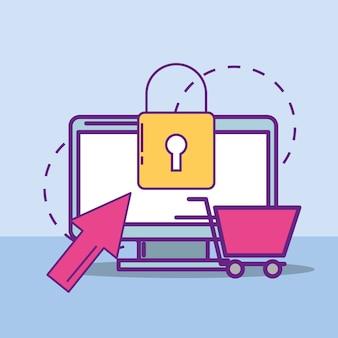 Buy online concept