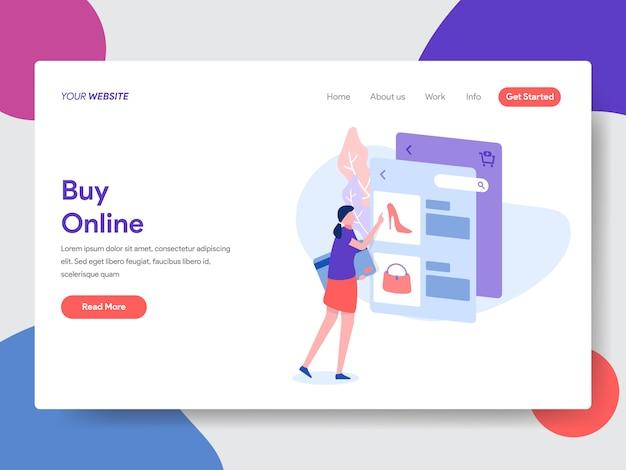 Buy online illustration for web page