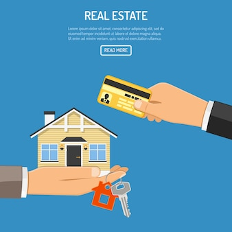 Buy rent real estate web template