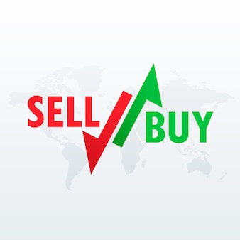 Buy and sell arrows for stock market trading