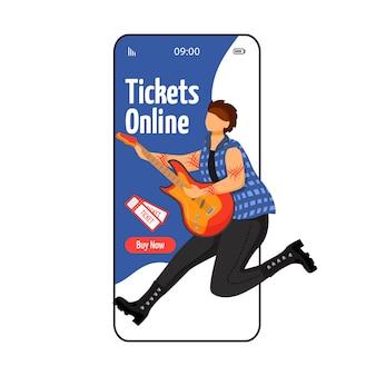 Buy tickets cartoon app screen