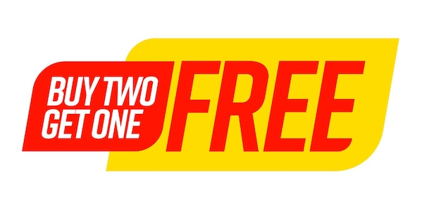 Buy two get one free bogo template voucher or coupon set.