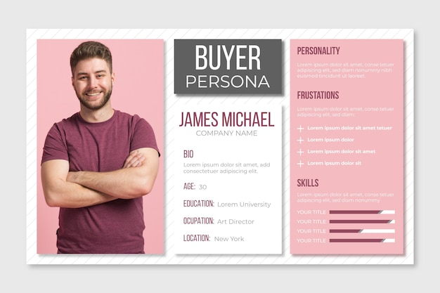 Infografica persona acquirente con foto