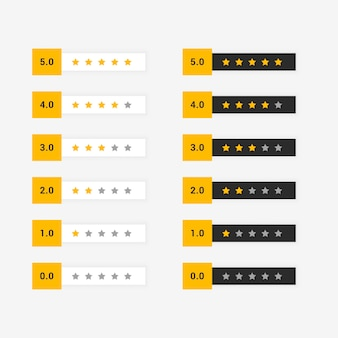 Buyer star rating set of symbol