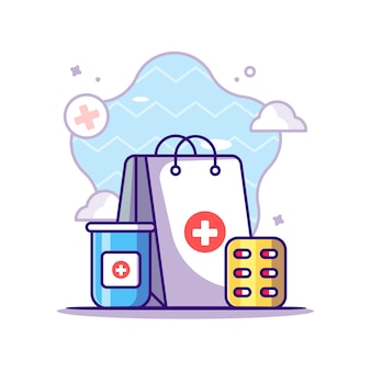 Покупка медицины иллюстрация
