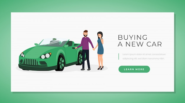 Buying new car web banner template