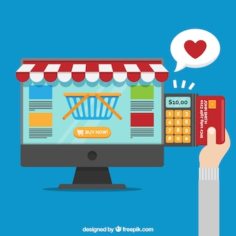 Buying online and paying with credit card