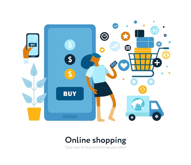 Buying online fast secure convenient flat
