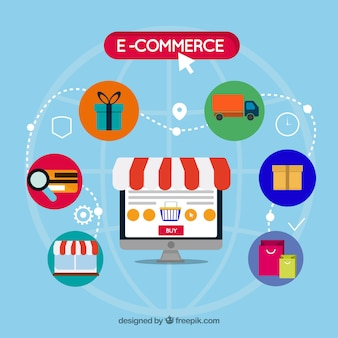 Buying products and services on the computer