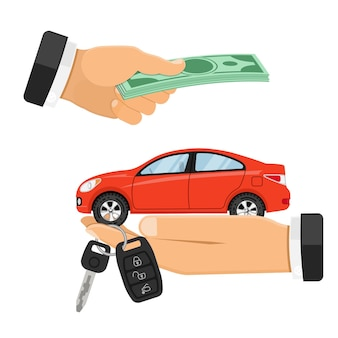 Buying, selling or renting car banner