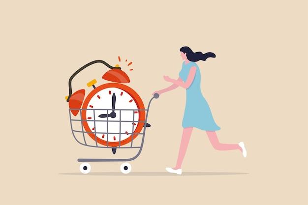 Покупка времени, чтобы отложить или получить больше времени, чтобы что-то сделать