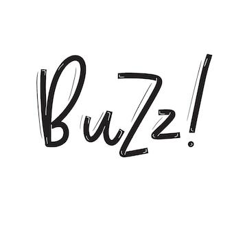 Карточка buzz с каллиграфией. ручной обращается современные надписи.