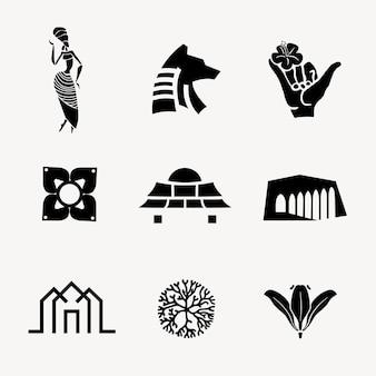 Bw icona illustrazione vettoriale per il set di branding