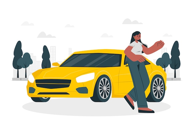 By my car concept illustration