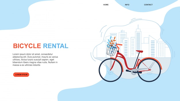 Bycicle rental. cityscape urban eco friendly transportation