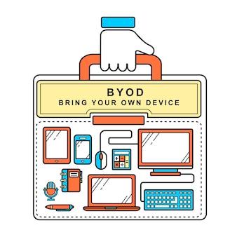 Byod принесет собственное устройство в линейный стиль