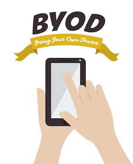 Byod concept with hand design