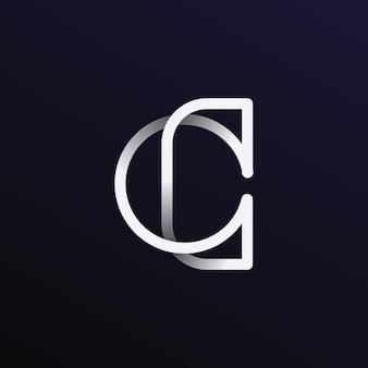 Cおよびoの抽象的なモノグラムロゴ