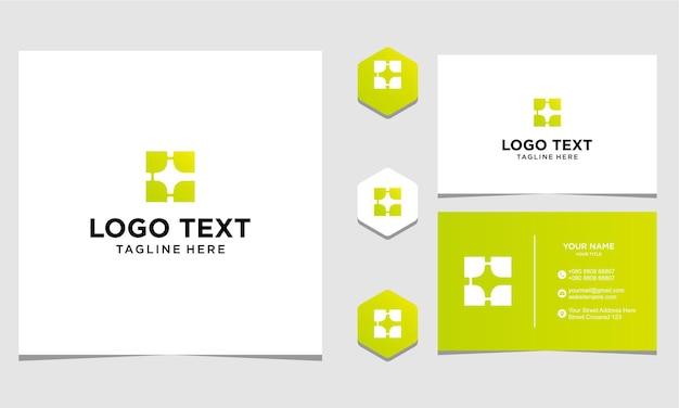 회사 및 명함에 대 한 c 블록 로고 디자인 영감 프리미엄 벡터