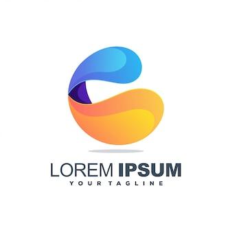 C colorful logo