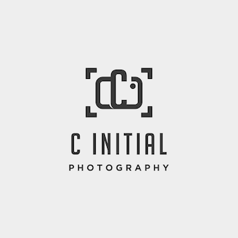 C initial photography logo template vector design icon element