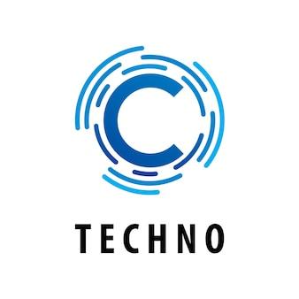 Логотип c initial technology circuit