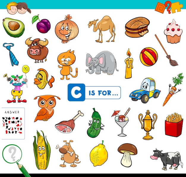 C is for educational game for children