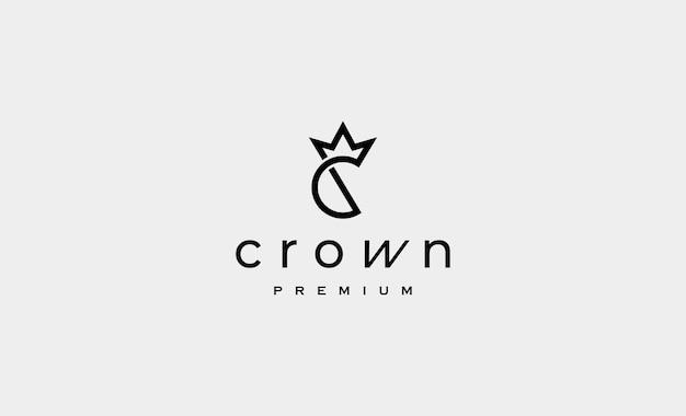 C king royal logo design vector illustration