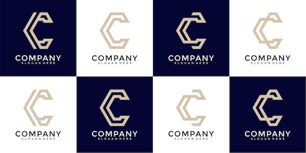 C letter logo collection monogram