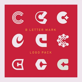 C letter mark logo pack