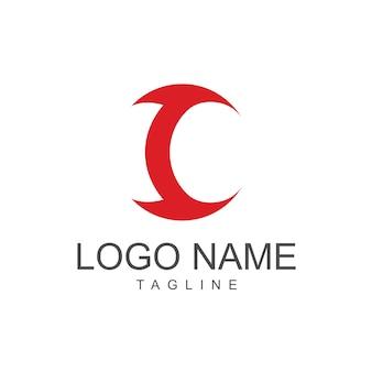 C logo template design