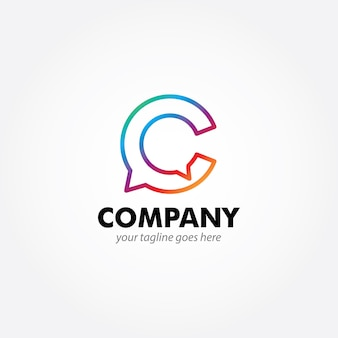 C monogram modern logo design
