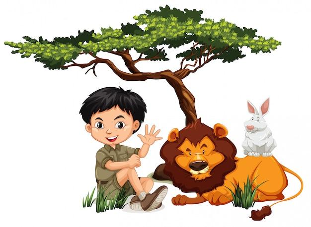 A c and wild animals