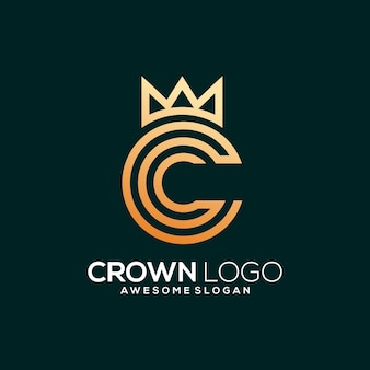 C with crown logo template