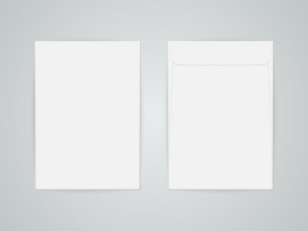 C4 пустой бумажный конверт Premium векторы