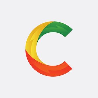 文字cのロゴデザイン