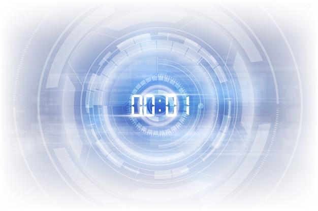 Абстрактный футуристический фон технологии с цифровым таймером c