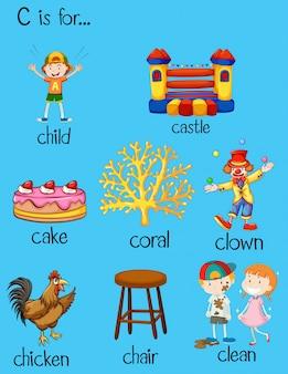 Различные слова для буквы c