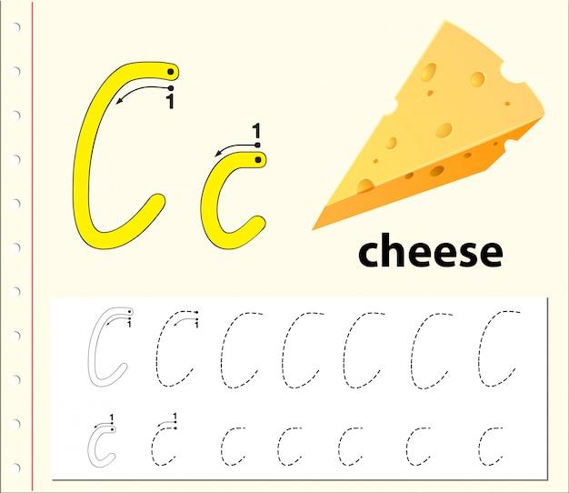Буква c трассировки алфавит листы