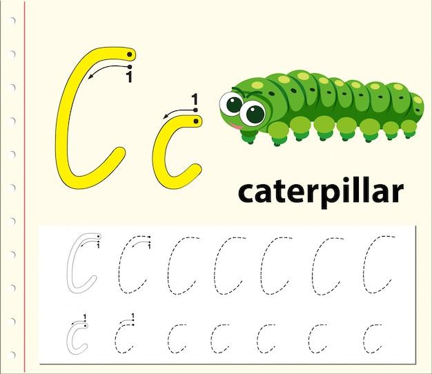 Буквы c, трассирующие алфавит