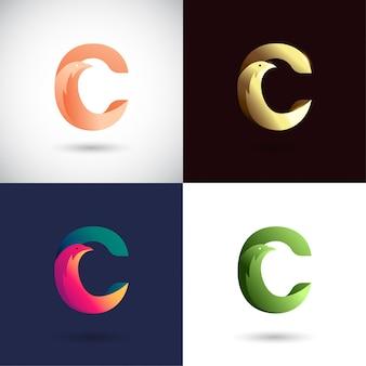 Креативный дизайн логотипа буква c