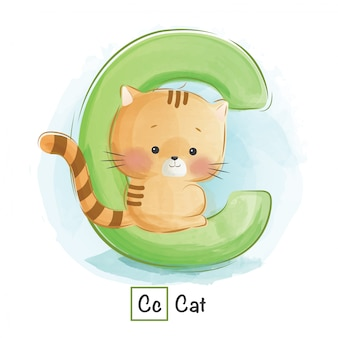 Алфавит животное - c