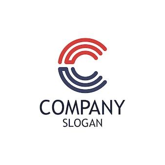 Cの文字ロゴデザイン