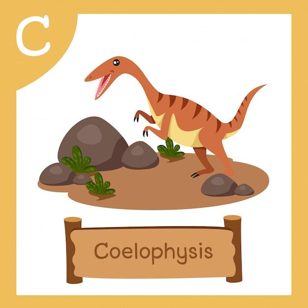 恐竜コエロフィシスのcのイラストレーター