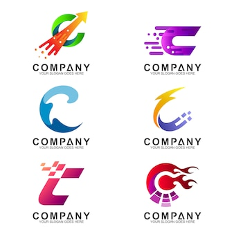文字cのロゴテンプレート