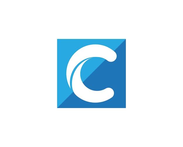 C文字アイコンのロゴ