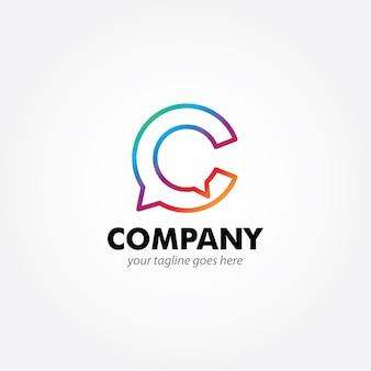 C монограммой современный дизайн логотипа