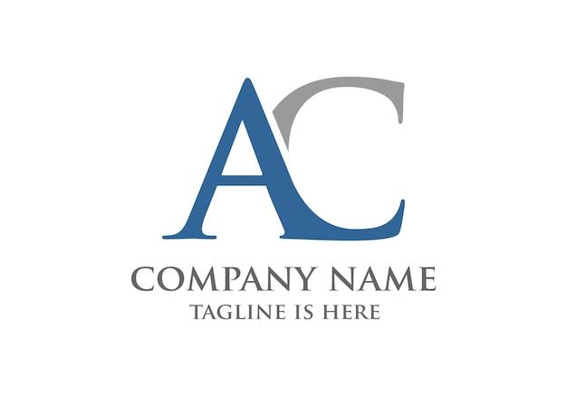 初期caまたはac文字のロゴデザイン