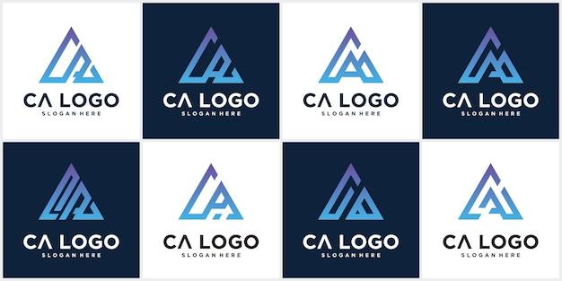 Ca logo design Premium Vector